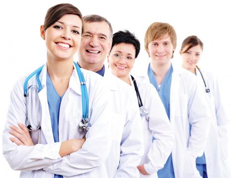 Equipe para tratamento de dependência química